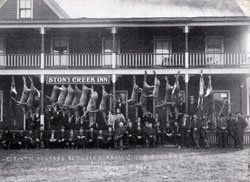 Hunters at the Stony Creek Inn 1910